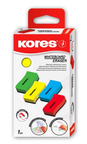 Kores Magnetická stírací houbička na bílé tabule, mix barev