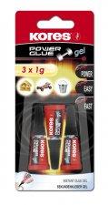 Kores Power Glue Gel 3 x 1 g