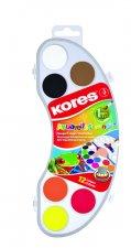 Kores Vodové barvy AKUARELLOS MINI 12 barev 25 mm + štětec