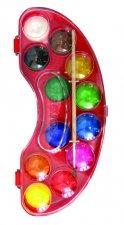 Kores Vodové barvy AKUARELLOS 30 mm x 12 barev + štětec
