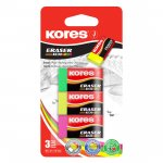 Kores Pryž KE30 NEON barevný mix 40 x21 x 10 mm 3 ks