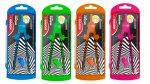 Kores Kovové kružítko GRAFIKO NEON, mix 4 neonových barev + náhradní tuhy + adaptér