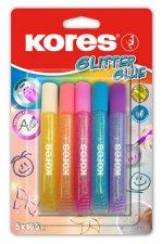 Kores Glitter glue pastel 5 x 10,5 ml