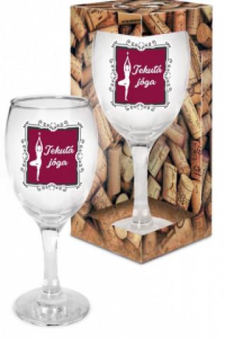Sklenička na víno Tekutá jóga - Já miluju víno