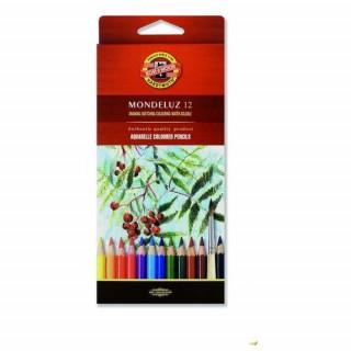 Koh-i-noor pastelky MONDELUZ akvarelové souprava 12 ks v papírové krabičce