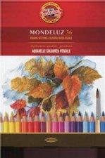 Koh-i-noor pastelky MONDELUZ akvarelové souprava 36 ks v papírové krabičce