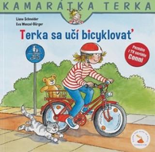 Terka sa učí bicyklovať