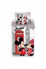 Dětské povlečení - Mickey & Minnie v Londýně
