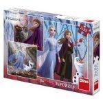 Puzzle Frozen II Zimní radovánky 3x55 dílků