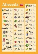 Plakát k českému jazyku (abeceda pro vázané/nevázané písmo)