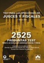 2525 PREGUNTAS TEST.OPOSICIONES DE JUECES Y FISCALES