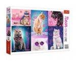 Super kočky: Puzzle Neon Color Line/1000 dílků