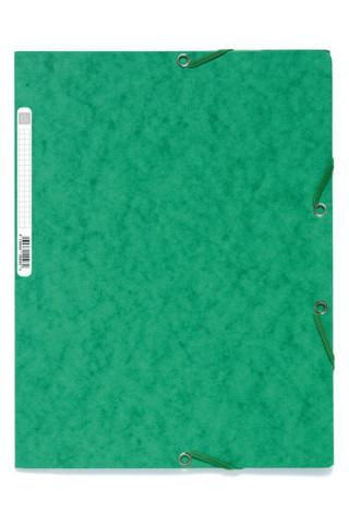 Spisové desky s gumičkou A4 prešpán 400 g/m2 - zelené