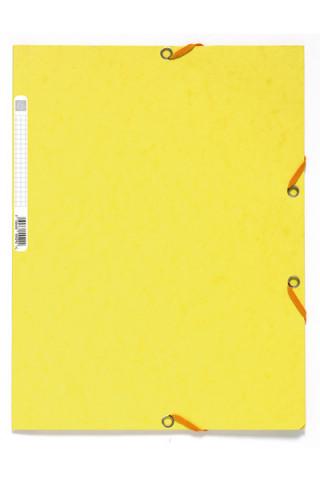 Spisové desky s gumičkou A4 prešpán 400 g/m2 - citronově žluté