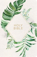 KJV On-The-Go Bible, White Floral Textured Leathertouch: Red Letter, Easy-To-Carry, Smythe Sewn, Teen Bible, Double Column, Presentation Page, Ribbon