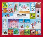 Adventní kalendář - 24 leporel s vánočními příběhy, básničkami a koledami a navíc jedna knížka nejoblíbenějších koled s notami