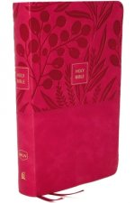 NKJV, End-of-Verse Reference Bible, Personal Size Large Print, Leathersoft, Pink, Red Letter, Comfort Print