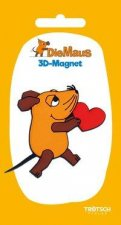 Trötsch Die Maus 3D-Magnet Maus mit Herz