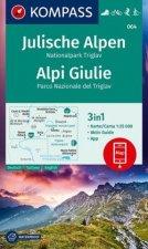 KOMPASS Wanderkarte Julische Alpen, Nationalpark Triglav, Alpi Giulie 1:25 000