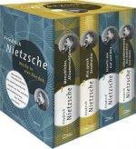 Friedrich Nietzsche, Werke in vier Bänden (Menschliches, Allzu Menschliches - Also sprach Zarathustra - Jenseits von Gut und Böse - Götzendämmerung/De
