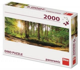 Svítání v lese 2000 panoramic Puzzle nové