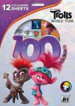 100 samolepek s omalovánkovými listy Trollové 2