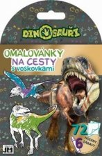 Omalovánky na cesty s voskovkami Dinosauři
