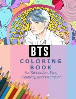 BTS Coloring Book for Relaxation, Fun, Creativity, and Meditation: Beautiful Stress Relieving Coloring Pages for ARMY and Kpop fans I Purple U 8.5 in
