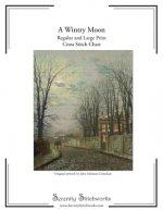 A Wintry Moon Cross Stitch Pattern - John Atkinson Grimshaw: Regular and Large Print Charts