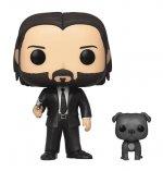 Funko POP Movies: John Wick- John in Black Suit w/ Dog