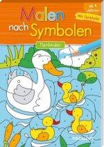 Malen nach Symbolen. Tierkinder. Mit ausklappbarer Farbtafel