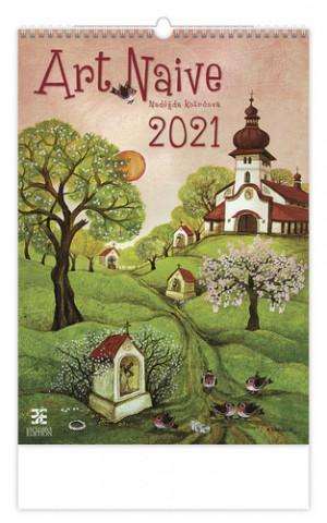 Kalendář 2021 nástěnný Exclusive: Art Naive, 340x485