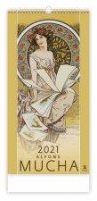 Kalendář 2021 nástěnný Exclusive: Alfons Mucha, 315x630
