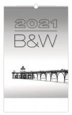 B & W - nástěnný kalendář 2021