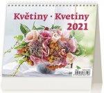 Kalendář 2021 stolní: MiniMax Květiny/Kvetiny, 171x139