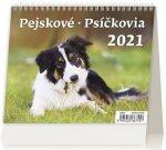 Kalendář 2021 stolní: MiniMax Pejskové/Psíčkovia, 171x139