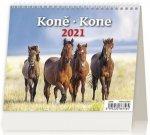 Kalendář 2021 stolní: MiniMax Koně/Kone, 171x139