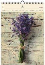 Dřevěný obrazový kalendář 2021 Lavender