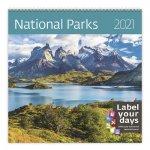 Kalendář 2021 nástěnný: National Parks, 300x300