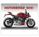 Kalendář 2021 nástěnný: Motorbikes, 450x315