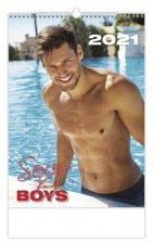 Kalendář 2021 nástěnný: Sexy Boys, 315x450