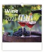 Wine - nástěnný kalendář 2021