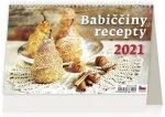 Kalendář 2021 stolní: Babiččiny recepty, 226x139