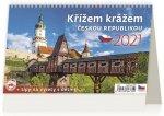 Kalendář 2021 stolní: Křížem krážem Českou republikou, 226x139