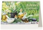 Kalendář 2021 stolní: Zdraví z přírody, 226x139