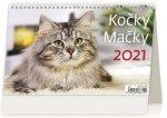 Kalendář 2021 stolní: Kočky/Mačky, 226x139