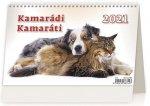 Kalendář 2021 stolní: Kamarádi/Kamaráti, 226x139