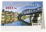 Kalendář 2021 stolní: Technické památky ČR, 226x139