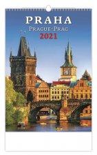 Kalendář 2021 nástěnný: Praha/Prague/Prag, 315x450