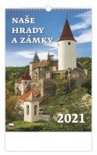 Kalendář 2021 nástěnný: Naše hrady a zámky, 315x450